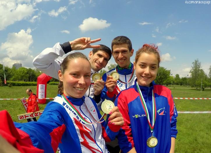 Тони, Цвети, Кирил и Иван победители в смесената спринтова щафета от държавното първенство и през 2016