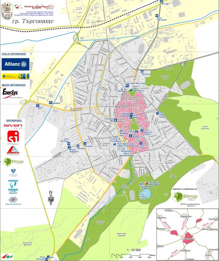 Карта на гр. Търговище 2015